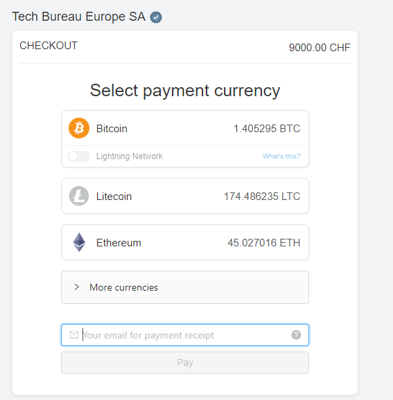 can pay cryptocurrency